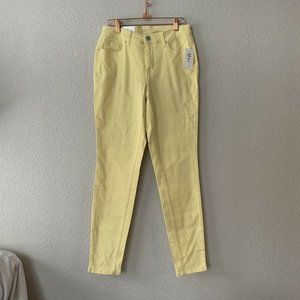 Style & Co Yellow Tummy Control Mid Rise Jeans